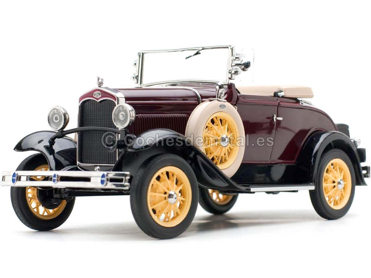 1931 Ford Model A Roadster Ford Maroon 1:18 Sun Star 6124 Cochesdemetal.es