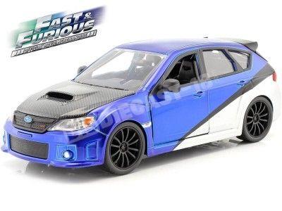"2009 Subaru Impreza STi ""Fast & Furious"" Azul-Plata 1:24 Jada Toys 99514 Cochesdemetal.es"