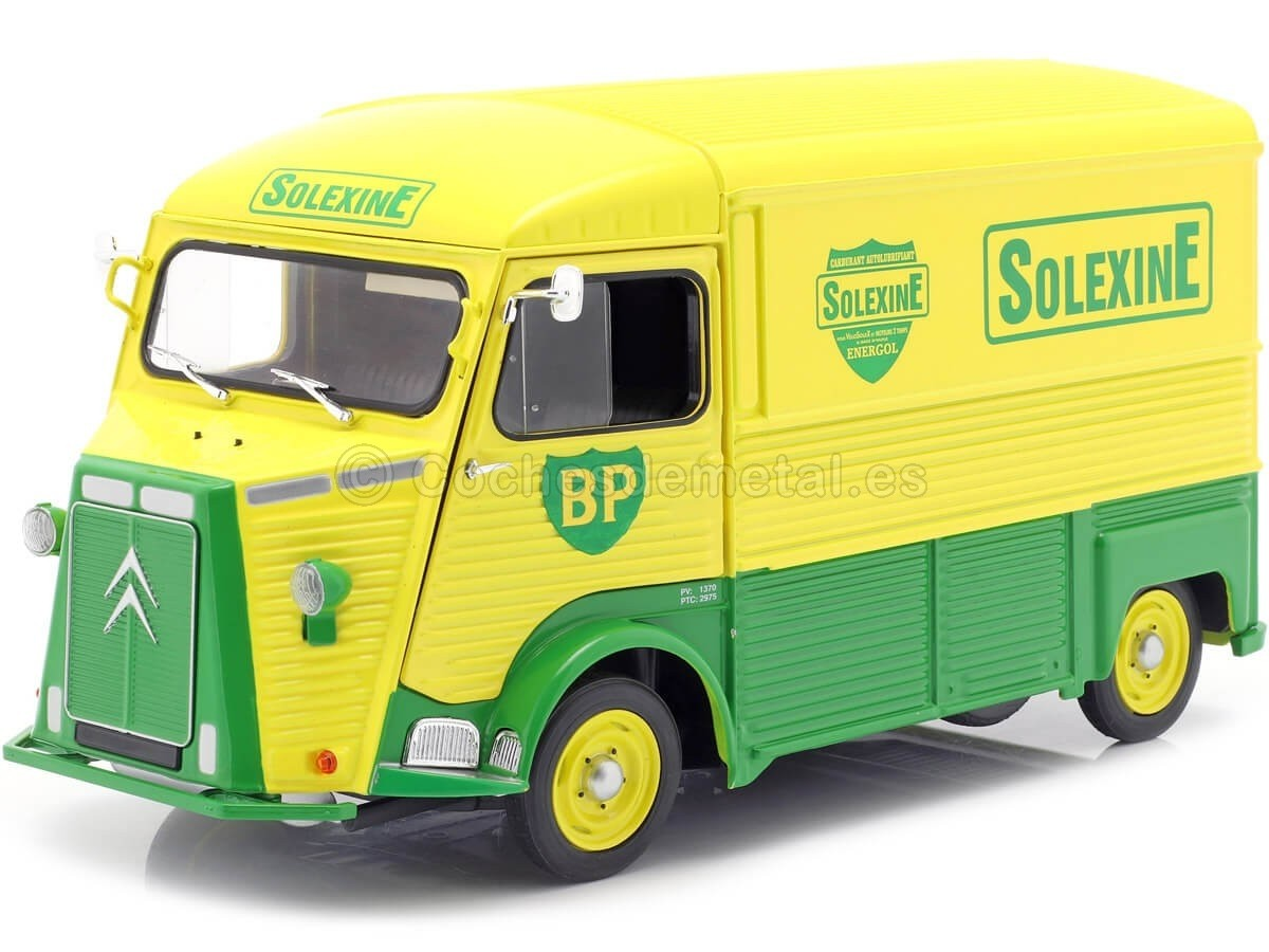"1969 Citroen Type HY ""BP Solexine"" Amarillo-Verde 1:18 Solido 1850023 Cochesdemetal.es"