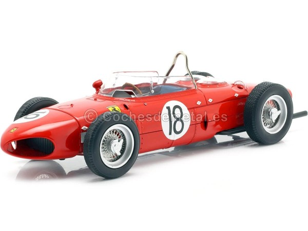 "1961 Ferrari 156 Sharknose Winner France GP F1 ""18 Ginther"" 1:18 CMR174 Cochesdemetal.es"