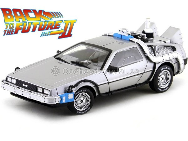 "1989 DeLorean DMC 12 ""Regreso al Futuro II"" 1:18 Hot Wheels CMC98 Cochesdemetal.es"