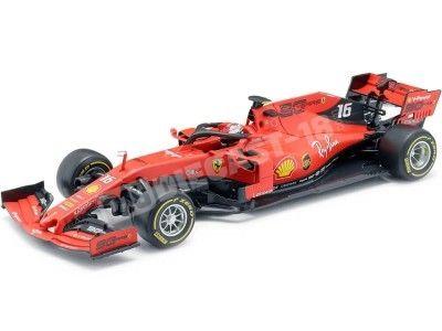 "2019 Scuderia Ferrari SF90 ""16 Charles Leclerc"" 1:18 Bburago 16807L Cochesdemetal.es"
