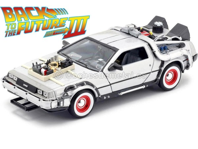 "1990 DeLorean DMC 12 ""Regreso al Futuro III"" 1:24 Welly 22444 Cochesdemetal.es"