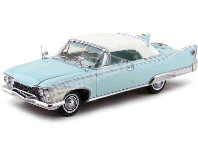 1960 Plymouth Fury Closed Convertible White-Aqua 1:18 Sun Star 5411 Cochesdemetal.es