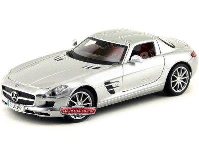 2010 Mercedes-Benz SLS AMG Gullwing Gris 1:18 Maisto 36196 Cochesdemetal.es