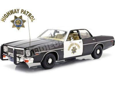 "1975 Dodge Coronet ""California Highway Patrol"" 1:18 Greenlight 19075 Cochesdemetal.es"