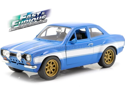 "1970 Ford Escort I RS 1600 FAV ""Fast & Furious 6"" Blue/White 1:24 Jada Toys 99572 Cochesdemetal.es"