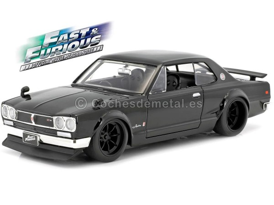 "1971 Nissan Skyline 2000 GTR KPGC10 ""Fast & Furious 5"" Black 1:24 Jada Toys 99686 Cochesdemetal.es"
