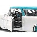 1955 Chevrolet Nomad Custom Blanco-Azul 1:18 Maisto Design 32613 Cochesdemetal.es