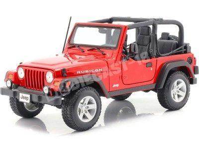 2003 Jeep Wrangler Rubicon Rojo 1:18 Maisto 31663 Cochesdemetal.es