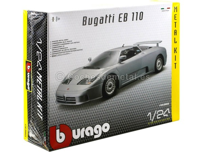 "1991 Bugatti EB110 Gris ""Metal Kit"" 1:24 Bburago 18-25025 Cochesdemetal.es"