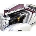 1939 Horch 855 Spezial Roadster Granate-Plata 1:18 Sun Star 2402 Cochesdemetal.es