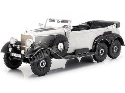 1938 Mercedes-Benz G4 Pullman Cabrio (W31) Gris 1:18 MC Group 18208 Cochesdemetal.es