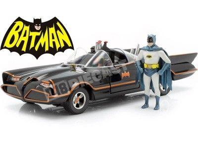 1966 TV Series Batmobile con Batman y Robin 1:24 Jada Toys 98259 Cochesdemetal.es