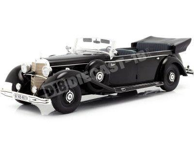1938 Mercedes-Benz 770K Pullman Cabrio (W150) Negro 1:18 MC Group 18207 Cochesdemetal.es