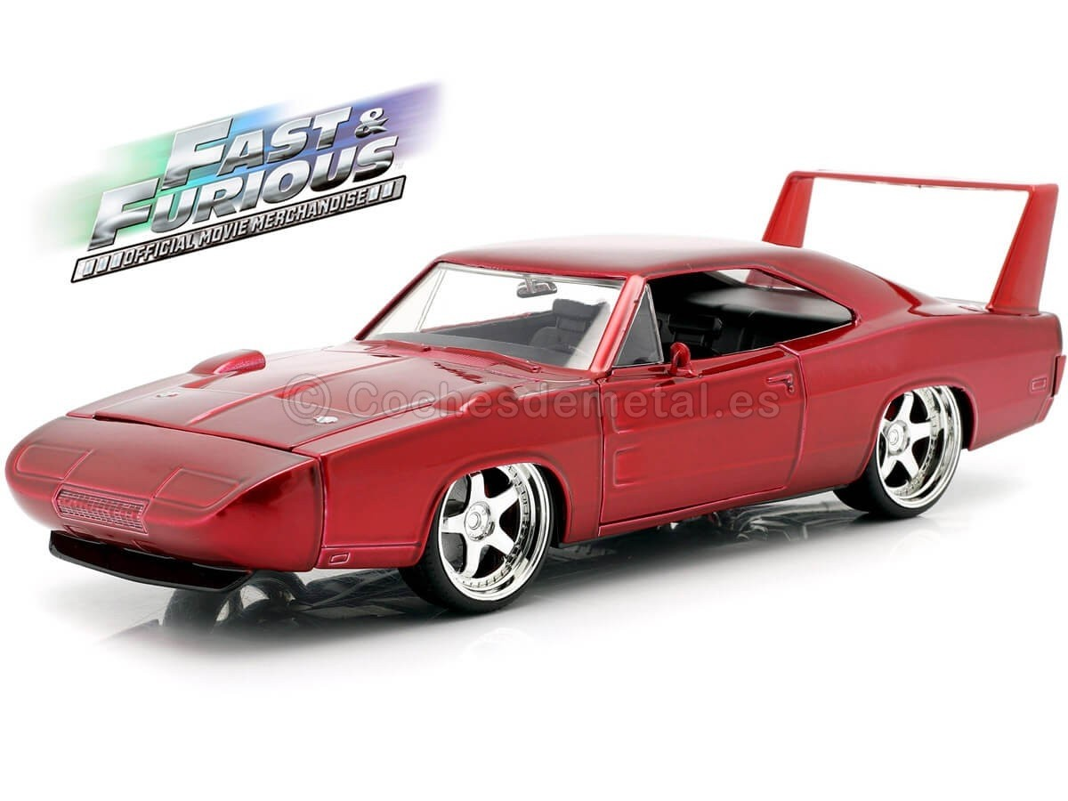 1969 Dodge Charger Daytona Custom Fast Amp Furious 6 Red 1 24 Jada Toys 9706 Ebay