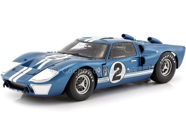 """1966 Ford GT40 Mark II """"12 Horas Sebring"""" 1:18 Shelby Collectibles 401 Cochesdemetal.es"""