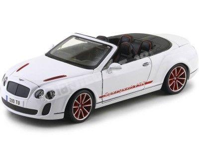 2010 Bentley Continental Supersport ISR Convertible Blanco 1:18 Bburago 11035 Cochesdemetal.es