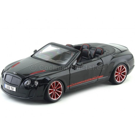 2010 Bentley Continental Supersport ISR Convertible Negro 1:18 Bburago 11035