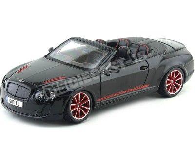 2010 Bentley Continental Supersport ISR Convertible Negro 1:18 Bburago 11035 Cochesdemetal.es