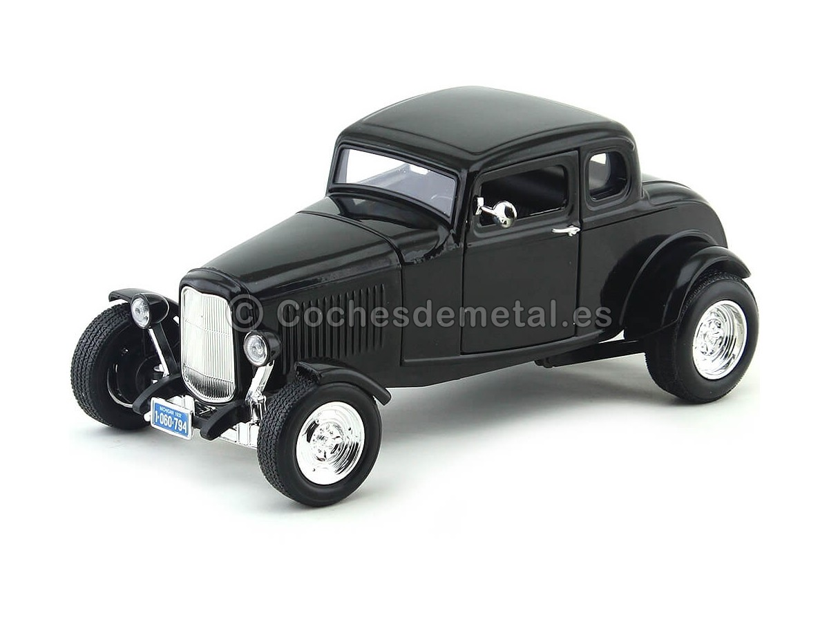 1932 Ford Five-Window Coupe Negro 1:18 Motor Max 73171 Cochesdemetal.es