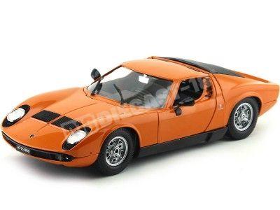 1968 Lamborghini Miura Naranja 1:18 Bburago 12072 Cochesdemetal.es