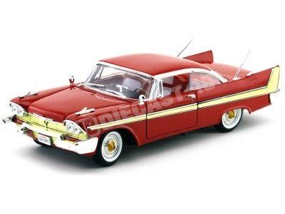 1958 Plymouth Fury Rojo 1:18 Motor Max 73115 Cochesdemetal.es