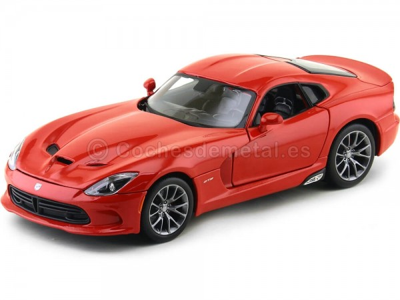 2013 Dodge Viper SRT GTS Rojo Metalizado 1:18 Maisto 31128 Cochesdemetal.es