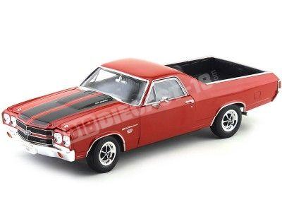 1970 Chevrolet El Camino SS 396 Rojo 1:18 Welly 12543 Cochesdemetal.es