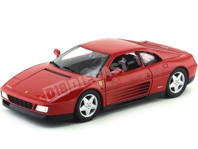 1990 Ferrari 348 TB Rojo Metalizado 1:18 Hot Wheels X5532 Cochesdemetal.es