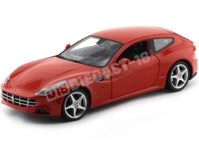 2011 Ferrari FF Four Rojo 1:18 Hot Wheels X5524 Cochesdemetal.es