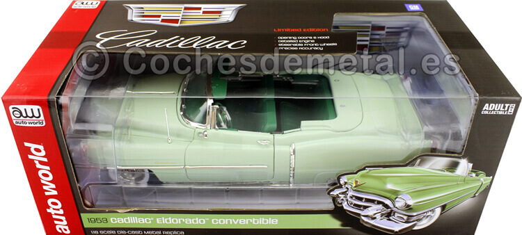 1953 Cadillac Eldorado Convertible Green 1:18 Auto World AW260