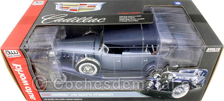1932 Cadillac V16 Sports Phaeton Azul Bitono 1:18 Auto World AW278