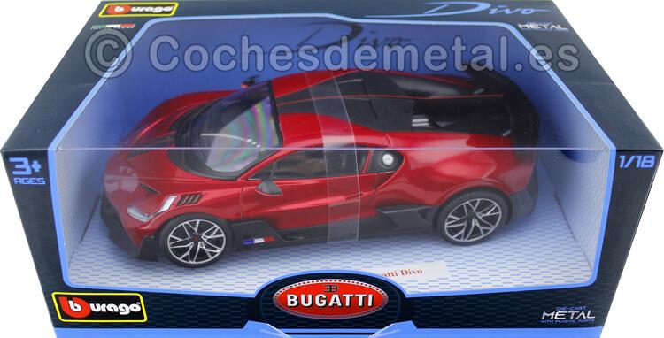 2018 Bugatti Divo Rojo Cereza 1:18 Bburago 11045