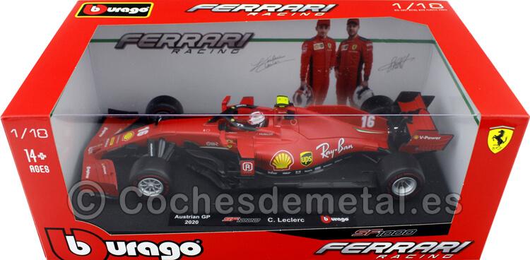 2020 Scuderia Ferrari SF1000 Charles Leclerc Austrian GP 1:18 Bburago 16808LR