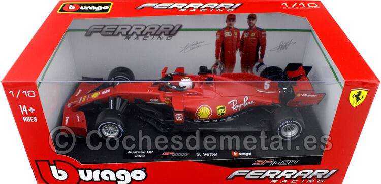 2020 Scuderia Ferrari SF1000 Sebastian Vettel Austrian GP 118 Bburago 16808VW