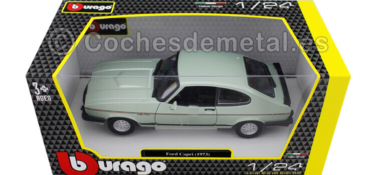 1973 Ford Capri Mark III 2.8 Inyection Metallic Green 1:24 Bburago 18-21093