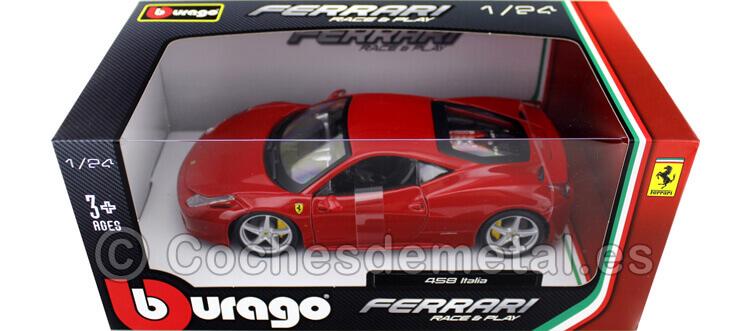 2010 Ferrari 458 Italia Rosso Corsa 1:24 Bburago 18-26003
