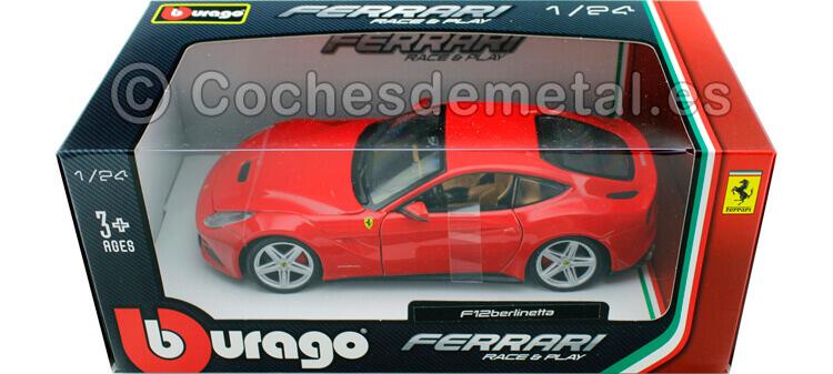 2012 Ferrari F12 Berlinetta Rojo 1:24 Bburago 18-26007