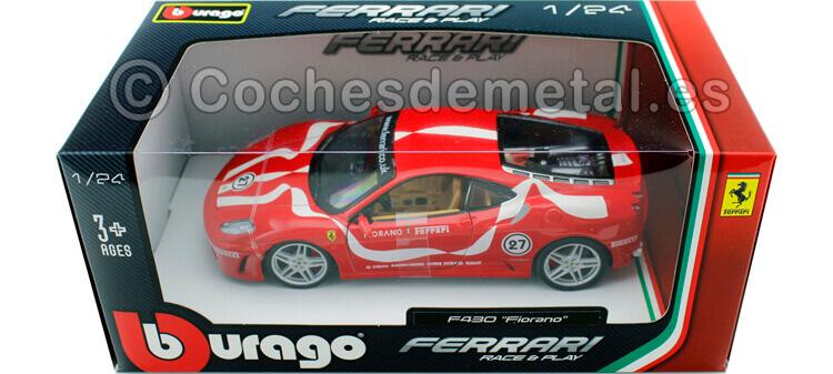 2006 Ferrari F430 Fiorano Rojo 1:24 Bburago 18-26009