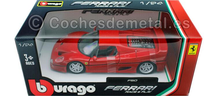 1995 Ferrari F50 Coupe Rojo 1:24 Bburago 18-26010