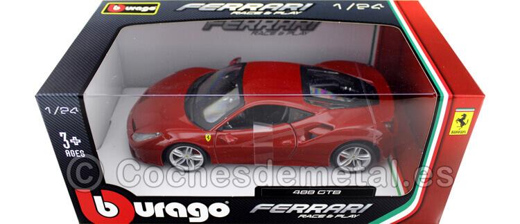 2015 Ferrari 488 GTB Rosso Mugello 1:24 Bburago 18-26013