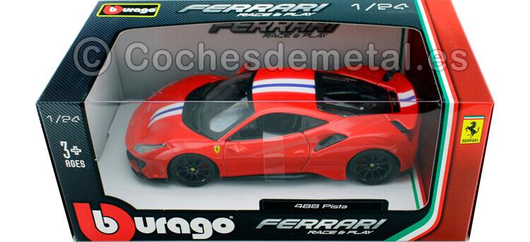 2018 Ferrari 488 Pista Rojo 1:24 Bburago 18-26026