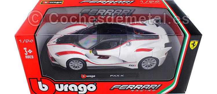 2015 Ferrari FXX-K Blanco/Negro 1:24 Bburago 18-26301