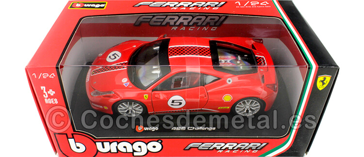 2012 Ferrari 458 Challenge Nº5 Rosso Corsa 1:24 Bburago 18-26302
