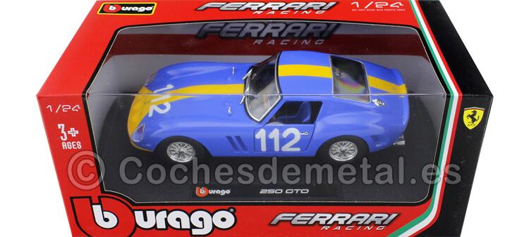 1962 Ferrari 250 GTO 112 azul/Amarillo 1:24 Bburago 18-26305