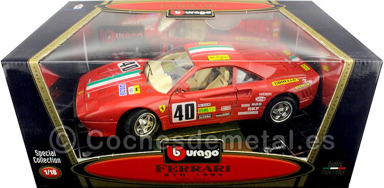 1984 Ferrari GTO 1984 Nº40 24H LeMans Rojo 1:18 Bburago 3027