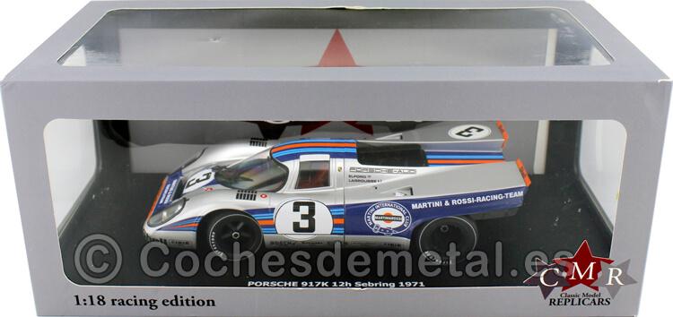 1971 Porsche 917K Winner 12h Sebring 3 Elford-Larrousse 1:18 CMR132
