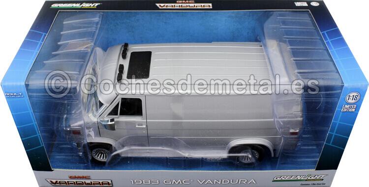 1983 Furgoneta GMC Vandura Cargo Van Gris Plata 118 Greenlight 13568