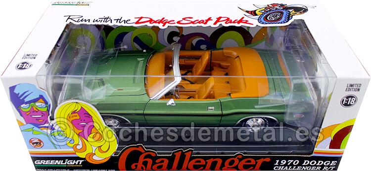 1970 Dodge Challenger R/T 440 6-Pack Convertible Verde 1:18 Greenlight 13585
